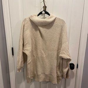 American Eagle Cream Turtleneck Sweater